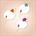 Delicious tags with abstract flowers Stock Photos