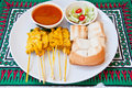 Delicious Thai food call  MOO SATAE Stock Photography
