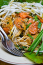 Delicious Thai food Pad thai Royalty Free Stock Photos