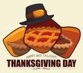 Delicious Thanksgiving Desserts Samples, Vector Illustration