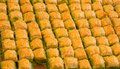 Delicious turkish baklava on market Stock Photos