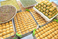 Delicious Turkish sweets and baklava Royalty Free Stock Photo