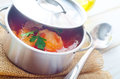 Delicious veal stew soup Royalty Free Stock Images