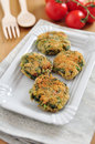 Delicious veggie burger patty with swiss chard Royalty Free Stock Photography