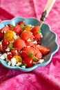Delicious watermelon salad Royalty Free Stock Photos