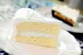 Delicious white cake Royalty Free Stock Photography