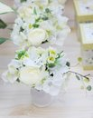 Delicious white and yellow artificial flowers Royalty Free Stock Images