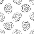 Delightful garden - Seamless pattern of two lemon halves Royalty Free Stock Photo