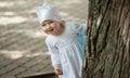 Delightful Little Girl Playful...