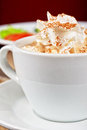 Deliicous coffee closeup cup photo Royalty Free Stock Photo