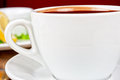 Deliicous coffee closeup cup photo Royalty Free Stock Image