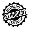 Delinquent rubber stamp Royalty Free Stock Photo
