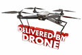 Delivered by Drone Automated Delivery Packages Shipping 3d Illus Royalty Free Stock Photo