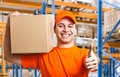 Delivery boy Royalty Free Stock Photography