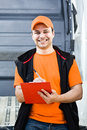 Delivery boy Royalty Free Stock Photos