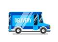 Delivery car vector illustration.