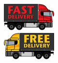 Delivery, Cargo Truck Royalty Free Stock Photo