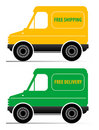 Delivery cars Royalty Free Stock Photos