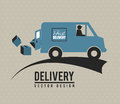 Delivery fast icon over beige background vector illustration Stock Image