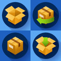 Delivery and free return of gifts or parcels. Shipping Concept icon for store Royalty Free Stock Photo