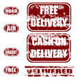 Delivery grunge stamp set Stock Photography