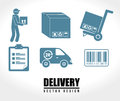 Delivery icons over white background vector illustration Royalty Free Stock Images