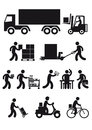 Delivery icons a set of various Stock Photo