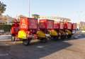 Delivery of mac donalds sharm el sheikh egypt april parking mopeds for in the city sharm el sheikh Stock Images