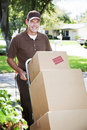 Delivery Man or Mover Outdoors Stock Photos