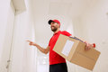 Delivery Man With Parcel Box R...