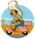 Delivery Mexican Chef Royalty Free Stock Photo