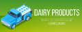 Delivery milk truck