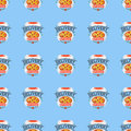 Delivery pizza seamless pattern vector illustration.