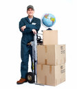 Delivery postman. Stock Photography