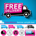 Delivery Promotion Set Royalty Free Stock Photos