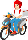Delivery Rider Stock Photography