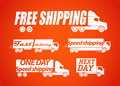 Delivery stickers Stock Images