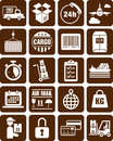 Delivery, transport and cargo icons Stock Photography