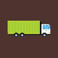 Delivery transport cargo logistic truck commercial highway industrial city vector illustration.