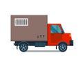 Delivery transport cargo truck vector illustration.