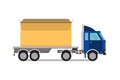 Delivery transport cargo truck vector illustration.