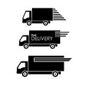 Delivery transportation icon on white background vector symbols isolated Royalty Free Stock Image
