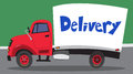 Delivery truck parked on the road Royalty Free Stock Image