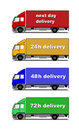 Delivery trucks Stock Image