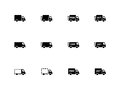 Delivery trucks icons on white background vector illustration Stock Photos
