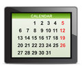 Delivery van vector illustration of detailed beautiful digital tablet with calendar icon Royalty Free Stock Image