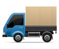 Delivery van vector illustration of detailed beautiful icon Stock Photo
