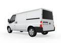 Delivery van on white background d render Royalty Free Stock Photo