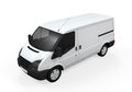 Delivery van on white background d render Stock Photos