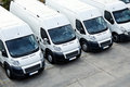 Delivery Vans in a row Royalty Free Stock Photo